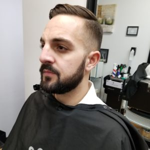 long face haircut + Beard